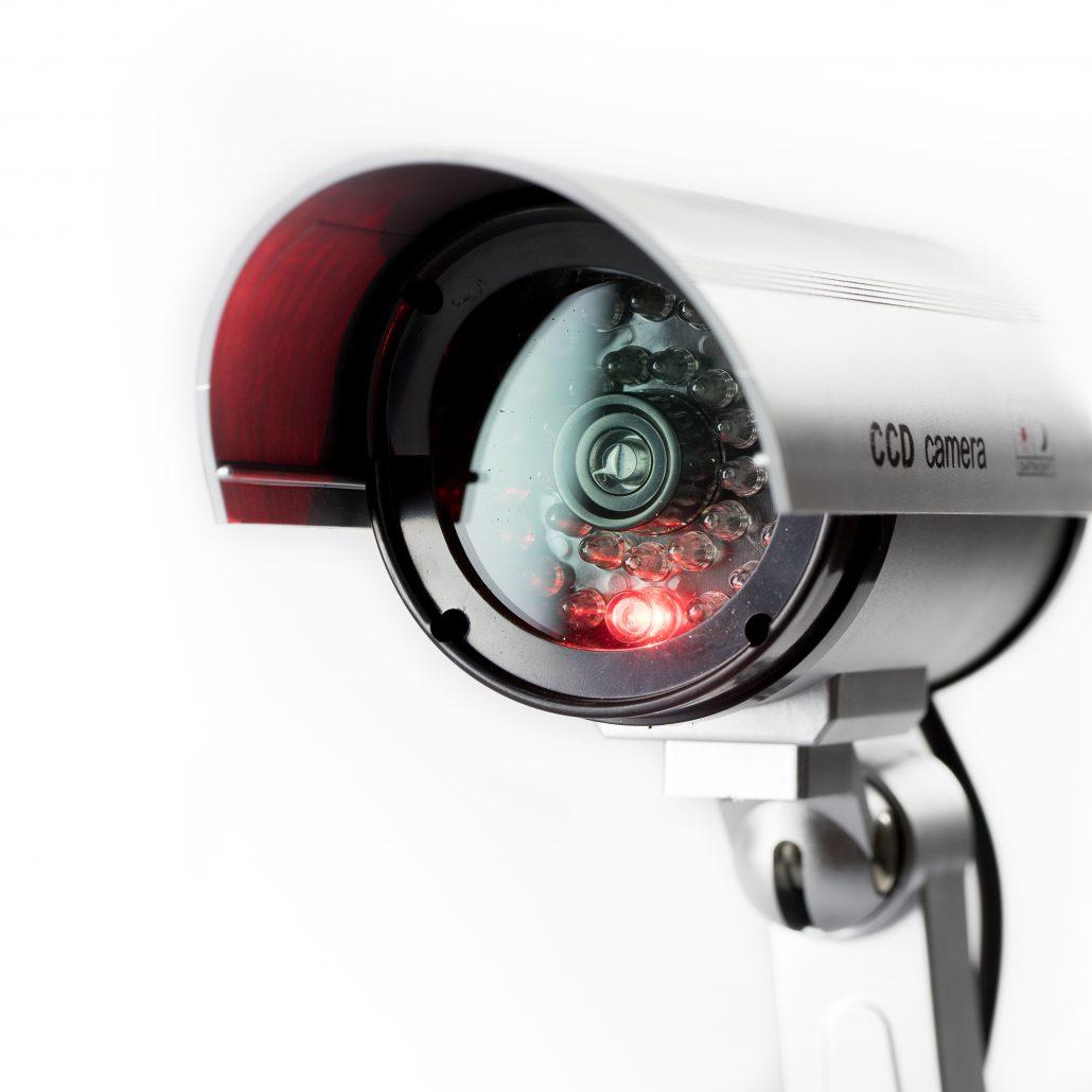 CCTV camera with infrared eye