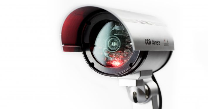 CCTV camera with infrared eye